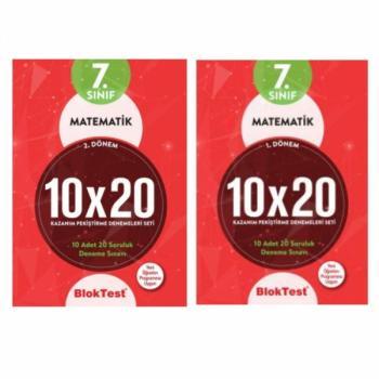 7. Sınıf 1. Dönem Ve 2. Dönem Matematik 10x20 Kazanım Pekiştirme Denemeleri Seti Blok Test Yayınları