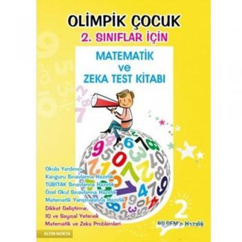 2. Sınıflar İçin Olimpik Çocuk Bilsem Kanguru Matematik ve Zeka Testi Kitabı Altın Nokta Yayınları
