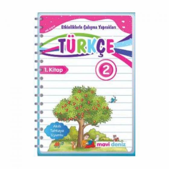 2. Sınıf Türkçe Etkinliklerle Çalışma Yaprakları 1. Kitap Mavi Deniz Yayınları