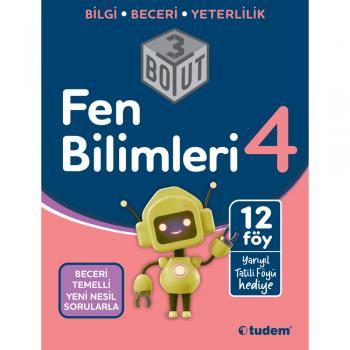 4.SINIF FEN BİLİMLERİ 3 BOYUT YENİ NESİL SORULARLA 2021 / TUDEM