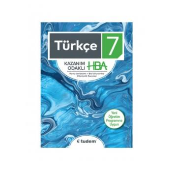 7. Sınıf Türkçe Kazanım Odaklı Konu Anlatımı Bol Alıştırma Çözümlü Sorular  HBA Tudem Yayınları