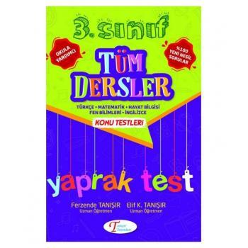Tanışır 3. Sınıf Tüm Dersler Konu Testleri Yaprak test