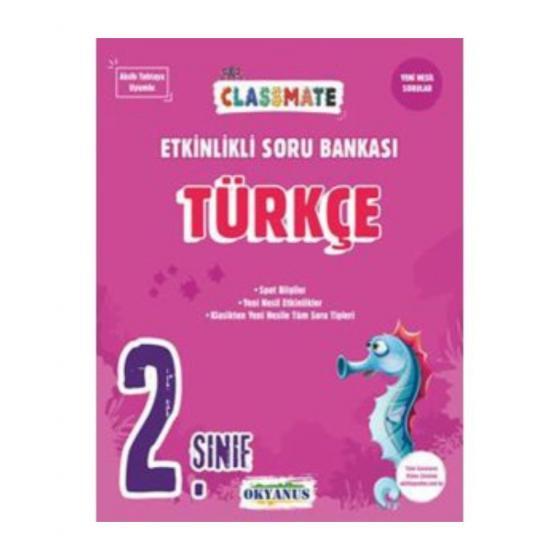 2. Sınıf Türkçe Etkinlikli Soru Bankası Okyanus Yayınları