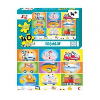 Joho Toys Taşıtlar 40 Parça Puzzle +4 YAŞ Joho Toys Komisyon Joho Toys