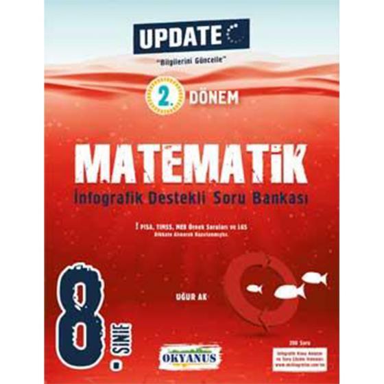 8. Sınıf 2. Dönem Matematik Update İnfografik Soru Bankası Okyanus Yayınları