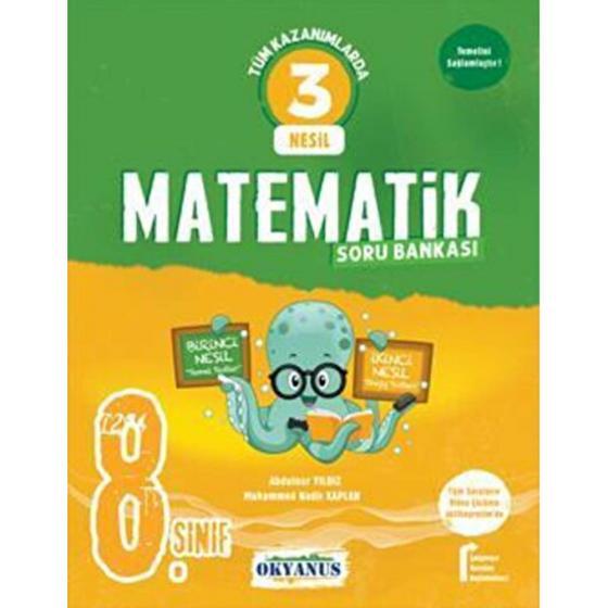 8. Sınıf 3 Nesil Matematik Soru Bankası Okyanus Yayınları