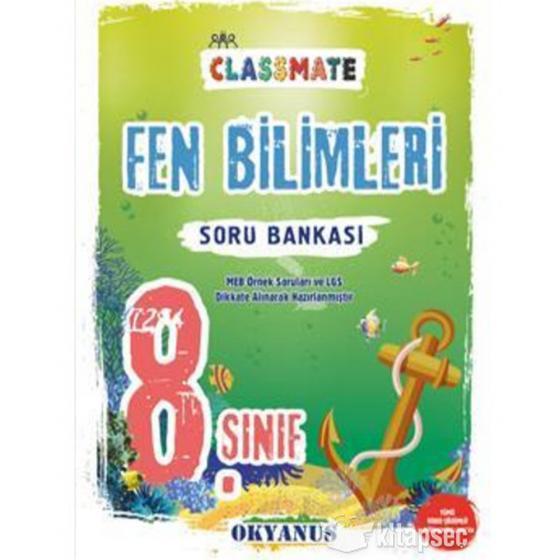 8. Sınıf Classmate Fen Bilimleri Soru Bankası Okyanus Yayınları
