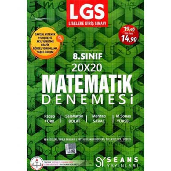 8. Sınıf LGS Matematik 20x20 Denemesi Seans Yayınları