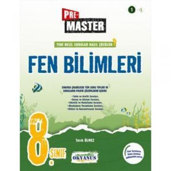 8. Sınıf Pre Master Fen Bilimleri Soru Bankası Tarık Ölmez Okyanus Yayınları