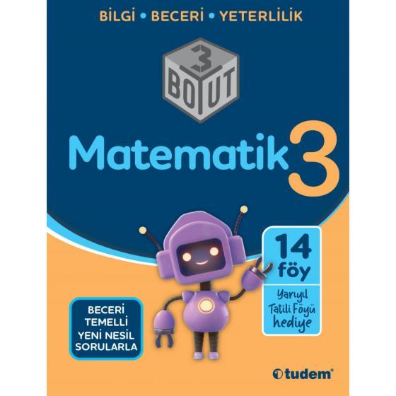 3. Sınıf Matematik 3 Boyut Soru Bankası Tudem Yayınları