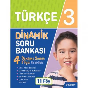 3. Sınıf Türkçe Dinamik Soru Bankası Tudem Yayınları