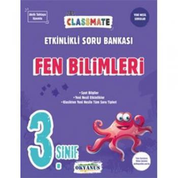 3. Sınıf Classmate Fen Bilimleri Etkinlikli Soru Bankası Okyanus Yayınları