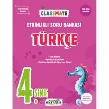 4. Sınıf Türkçe Classmate Etkinlikli Soru Bankası Okyanus Yayınları