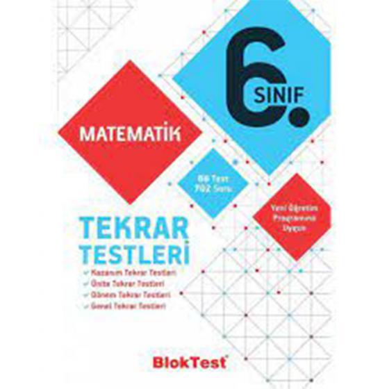 6. Sınıf Matematik Tekrar Testleri Blok Test Yayınları