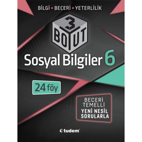 6. Sınıf Fen Bilimleri 3 Boyut Yeni Nesil Sorularla Tudem Yayınları