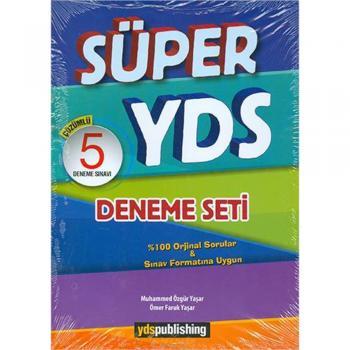 YDS Süper Çözümlü 5 Deneme Seti Ydspublishing