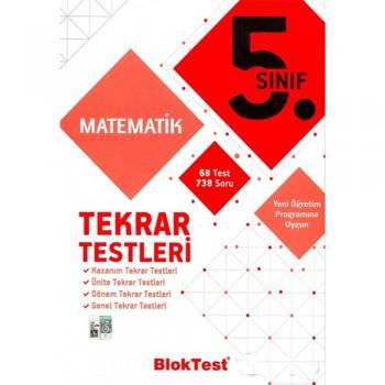 5. Sınıf Matematik Tekrar Testleri Blok Test Yayınları