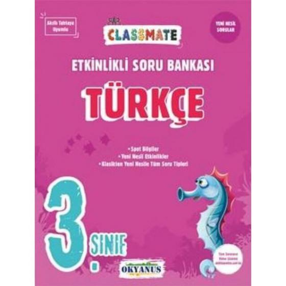 3. Sınıf Türkçe Classmate Etkinlikli Soru Bankası Okyanus Yayınları