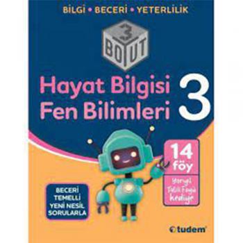3.Sınıf Hayat Bilgisi Fen Bilimleri 3 Boyut Soru Bankası Tudem Yayınları