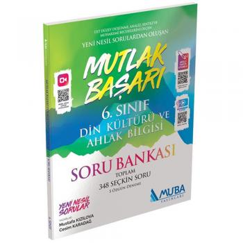 6. Sınıf Din Kültürü ve Ahlak Bilgisi Mutlak Başarı Soru Bankası Muba Yayınları