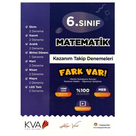 6. Sınıf Matematik Fark Var Kazanım Takip Denemeleri Koray Varol Akademi