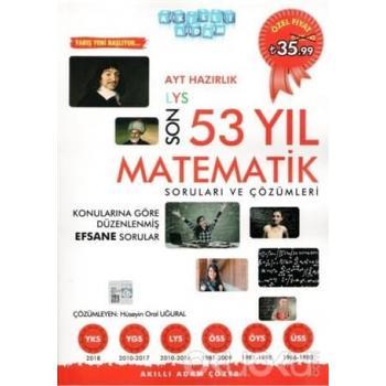 AYT Hazırlık Son 53 Yıl Matematik Çıkmış Sorular ve Çözümleri Akıllı Adam Yayınları
