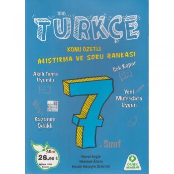 Örnek Akademi Yayınları 7. Sınıf Türkçe Alıştırma ve Soru Bankası