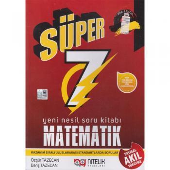 7.Sınıf Matematik Süper Yeni Nesil Soru Kitabı Nitelik Yayınları