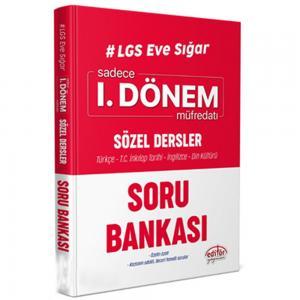 LGS Eve Sığar 1. Dönem Sözel Dersler Soru Bankası Editör Yayınevi