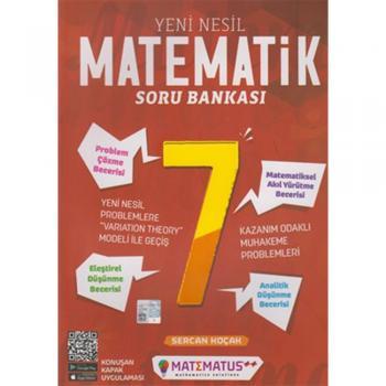 7. Sınıf Yeni Nesil Matematik Soru Bankası Matematus Yayınları