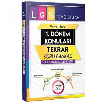 8. Sınıf LGS 1. Dönem Konuları Tekrar Soru Bankası RTY Rota Yayınları