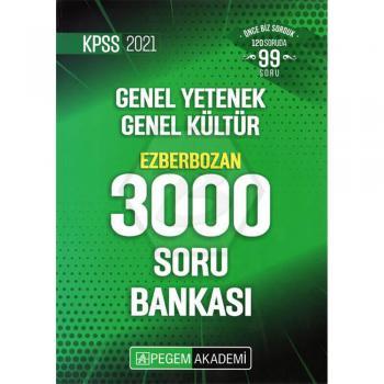 2021 KPSS Genel Yetenek Genel Kültür Ezberbozan 3000 Soru Bankası Pegem Yayınları