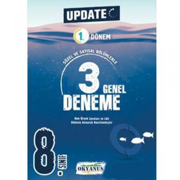 8. Sınıf LGS 1. Dönem Update 3 Genel Deneme Okyanus Yayınları