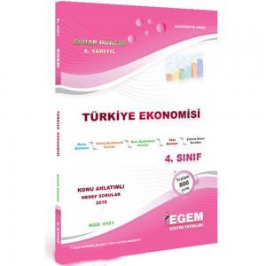 4. Sınıf 8. Yarıyıl Türkiye Ekonomisi Konu Anlatımlı Hedef Sorular Kod:4451 Egem Yayınları