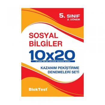5.Sınıf Sosyal Bilgiler 10x20 2 Dönem Deneme Blok Test Yayınları