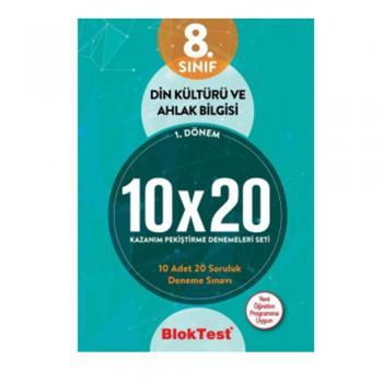 8.Sınıf Din Kültürü ve Ahlak Bilgisi 10X20 Kazanım Denemeleri Seti Blok Test Yayınları
