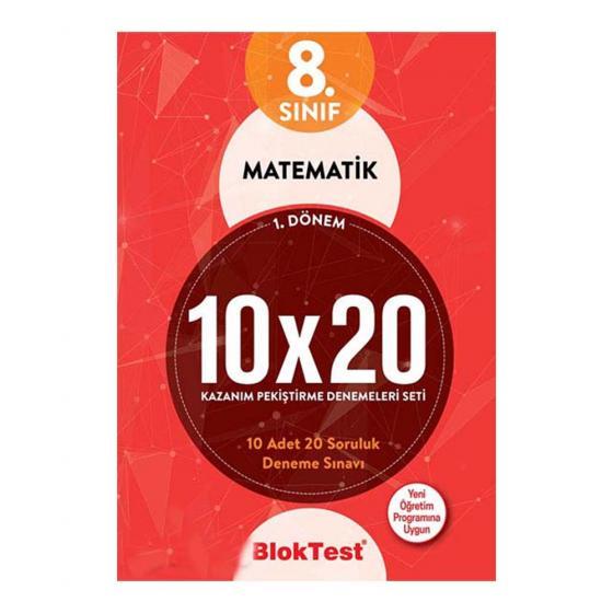 8.Sınıf 1.Dönem Matematik 10x20 Kazanım Pekiştirme Denemeleri Seti Blok Test Yayınları