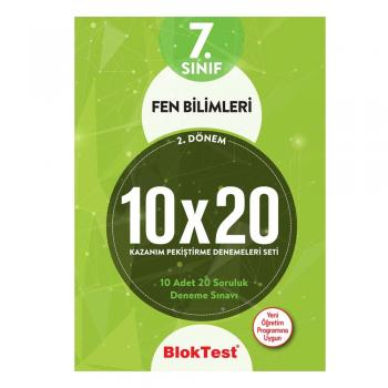 7.Sınıf Bloktest 2.Dönem Fen Bilimleri 10x20 Kazanım Pekiştirme Denemeleri Seti