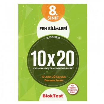 8.Sınıf Bloktest 2.Dönem Fen Bilimleri 10x20 Kazanım Pekiştirme Denemeleri Seti