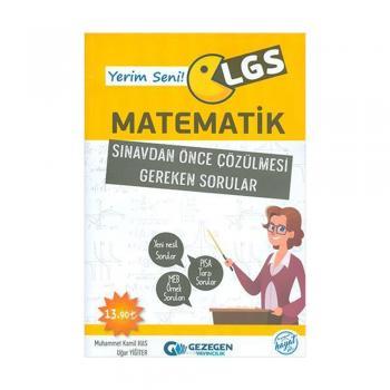 Yerim Seni LGS Matematik Sınavdan Önce Çözülmesi Gereken Sorular Gezegen Yayınları