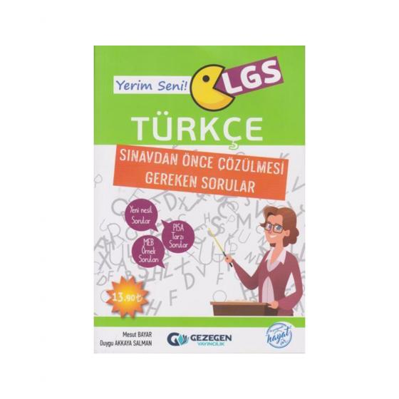 Yerim Seni LGS Türkçe Sınavdan Önce Çözülmesi Gereken Sorular Gezegen Yayınları