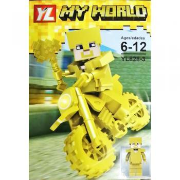 Ufak Parça Tekli Mini My World Mınecraft Lego Figür