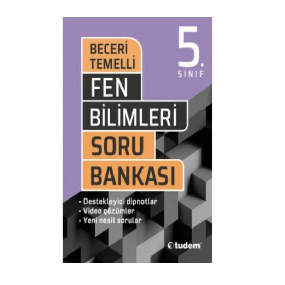5.Sınıf Fen Bilimleri Beceri Temelli Soru Bankası Tudem Yayınları