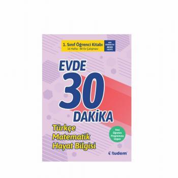 Tudem Evde 30 Dakika Türkçe Matematik Fen 1. SINIF
