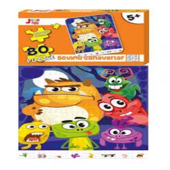 Joho Toys SEVİMLİ CANAVARLAR 80 Parça 5+ YAŞ Puzzle Joho Toys Komisyon Joho Toys