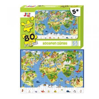 Joho Toys Kocaman Dünya 80 Parça  5+ YAŞ Puzzle Joho Toys Komisyon Joho Toys