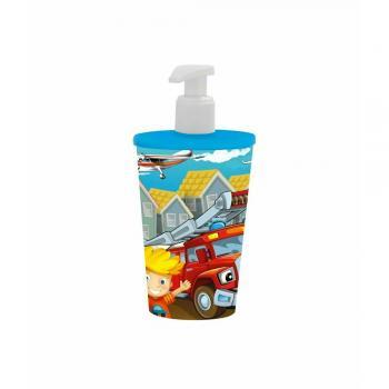 Araba Baskılı 340 ml Sıvı Sabunluk - Mavi - Erkek Çocuk