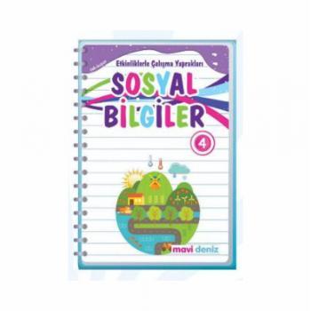 4. Sınıf SOSYAL BİLGİLER  Etkinliklerle Çalışma Yaprakları Mavi Deniz Yayınları