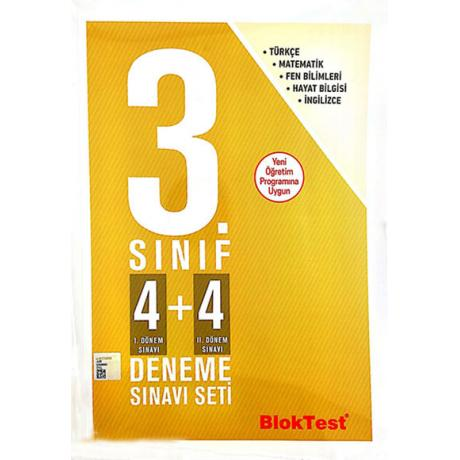 3.Sınıf 4+4 Deneme Sınavı Seti Blok Test Yayınları