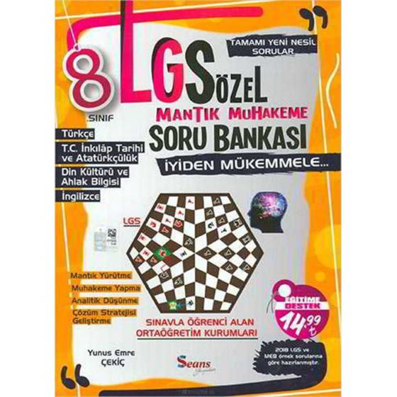 8. Sınıf LGS Sözel Mantık Muhakeme Soru Bankası Seans Yayınları